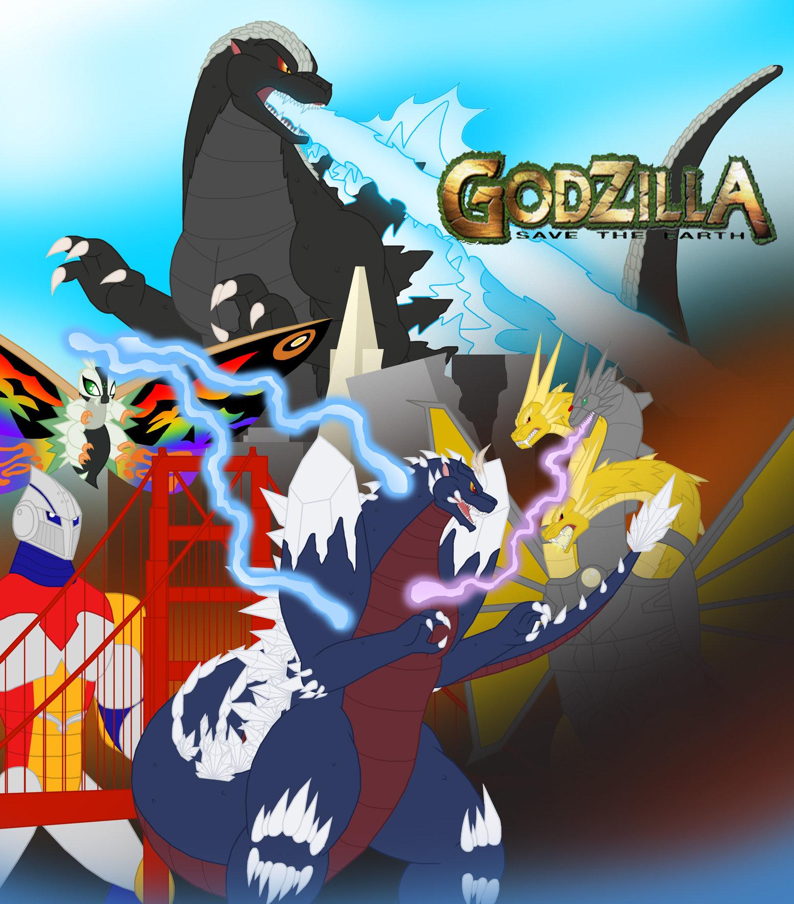 Godzilla Save the Earth The Bridge Style by Pyrus.