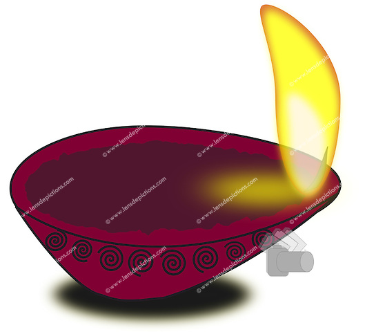 Diwali diya vector illustration..