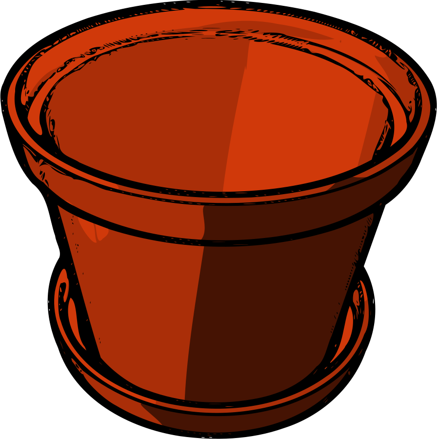 Earthen pot Clipart, vector clip art online, royalty free design.
