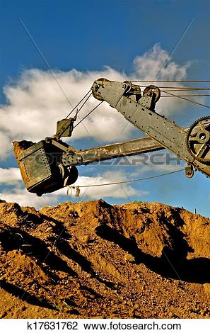 Stock Photo of Dragline Excavating Earth k17631762.