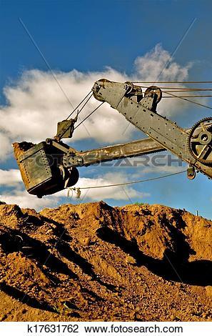 Stock Photo of Dragline Excavating Earth k17631762.