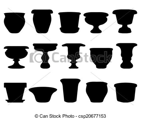 Clipart Vector of pottery.