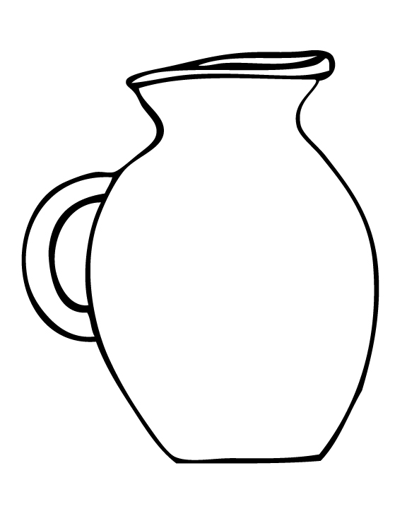 Pottery Water Jug Clipart.