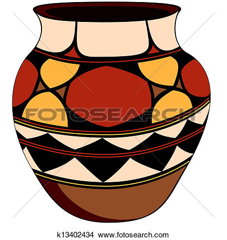 Clipart of Clay pot k13402434.
