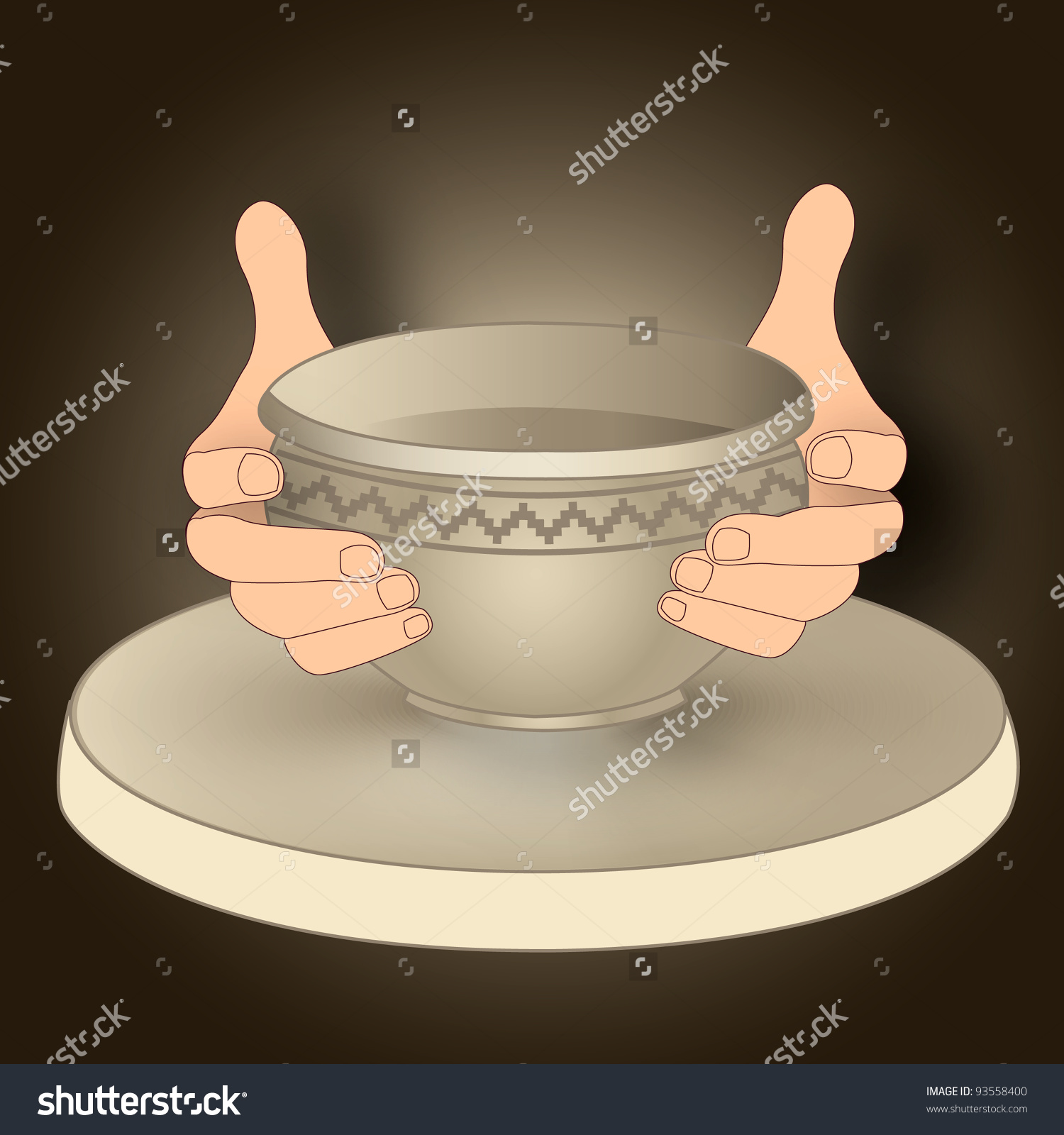 Pottery Craft Stock Vector 93558400.