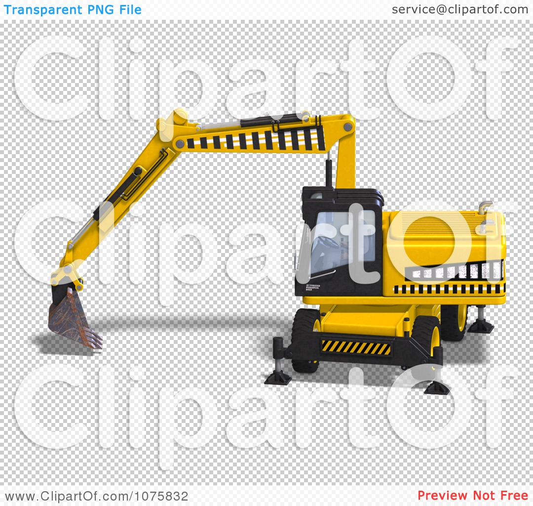 Clipart 3d Earth Mover Excavator 5.