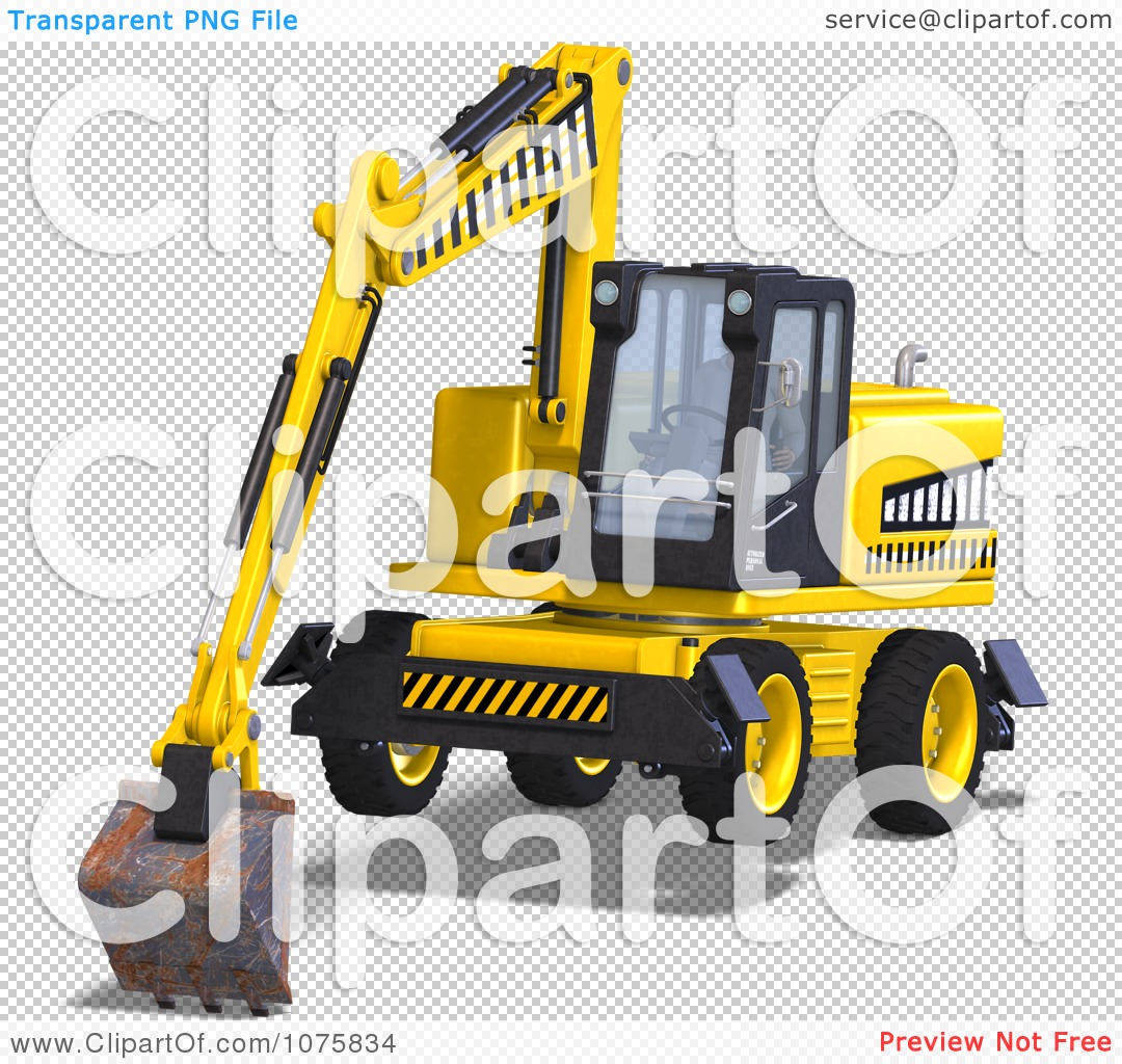 Clipart 3d Earth Mover Excavator 7.