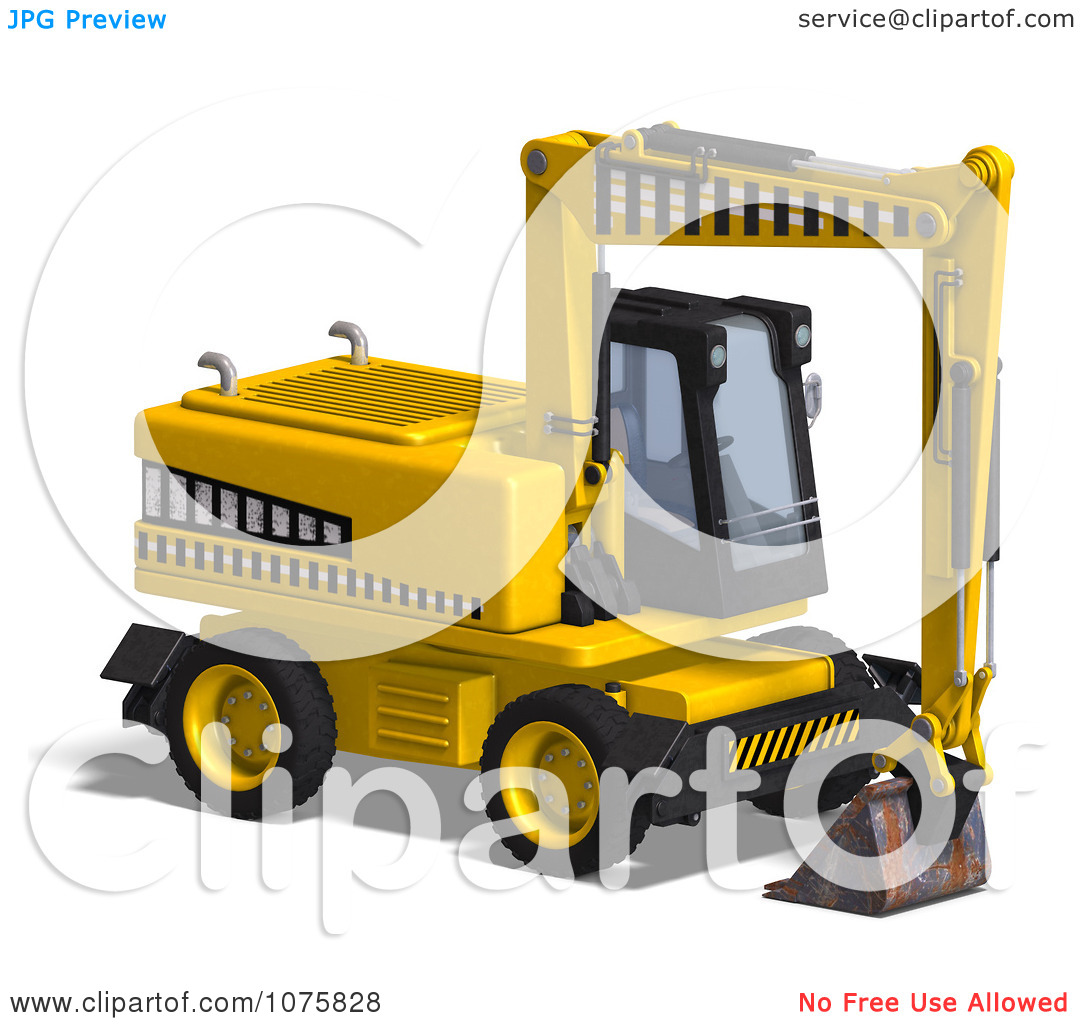 Clipart 3d Earth Mover Excavator 1.