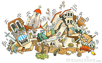 Earthquake Stock Illustrations.
