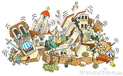 Earthquake Stock Illustrations.