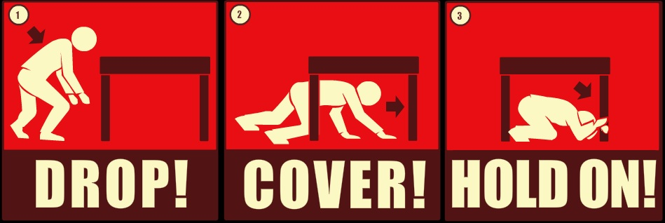 Safety measures during earthquake clipart.