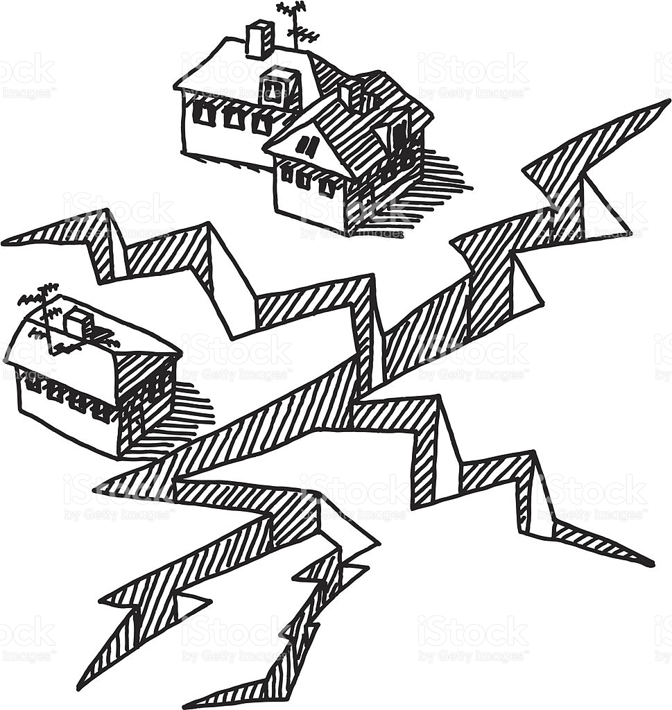 Earthquake Clipart Black And White.
