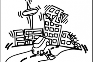 Earthquake clipart black and white, Earthquake black and.