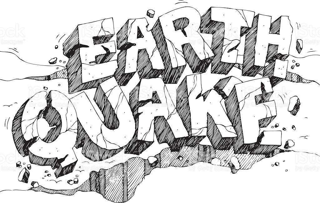 1439 Earthquake free clipart.
