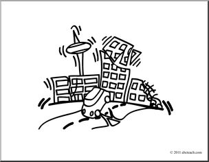 Earthquake clipart coloring page, Earthquake coloring page.