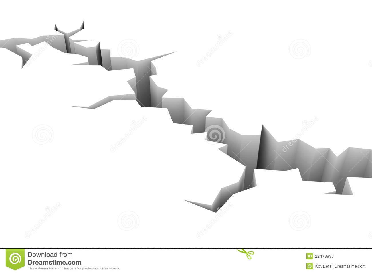 Earthquake Cracks Free Clipart.