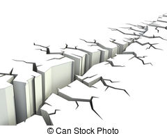 Clipart of earthquake ground crack 3d illustration csp9419381.