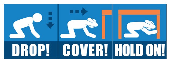 ShakeOut drill teaches earthquake safety.