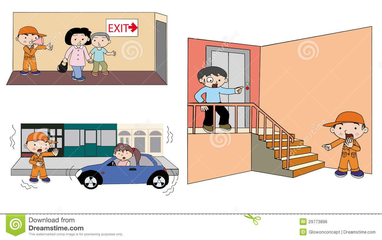 Earthquake Safety Clipart.