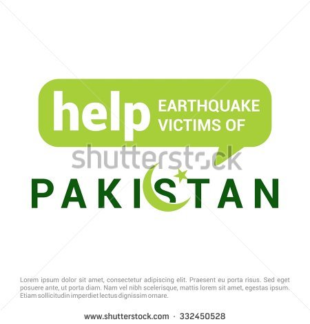 Help Pakistan Earthquake Victims Speech Bubble For Charity. Pray.