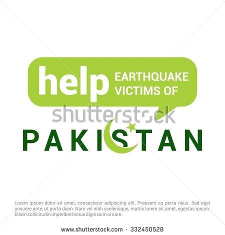 Help Pakistan Earthquake Victims Speech Bubble For Charity. Pray.