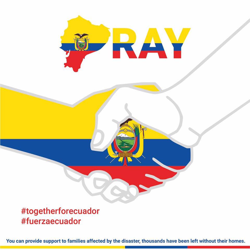 Help Ecuadorian Earthquake Victims by Lore Gallant.