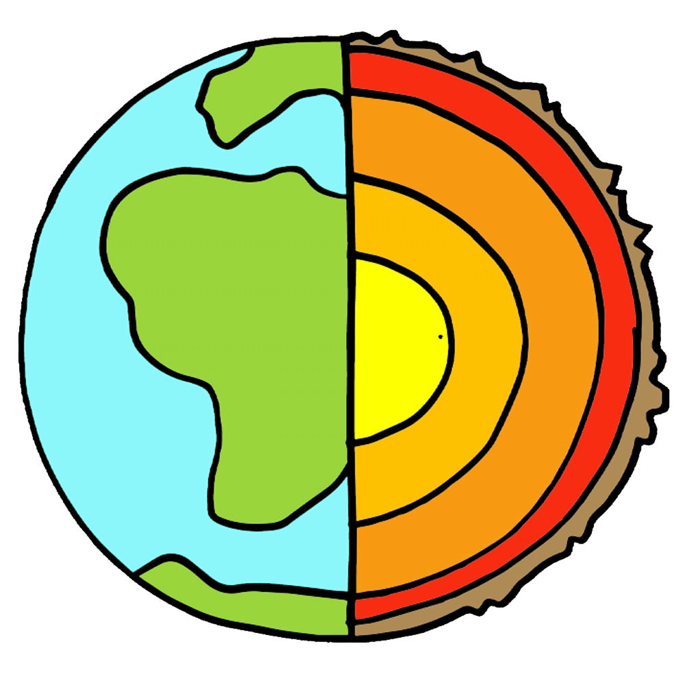 Layers of the Earth Clipart.
