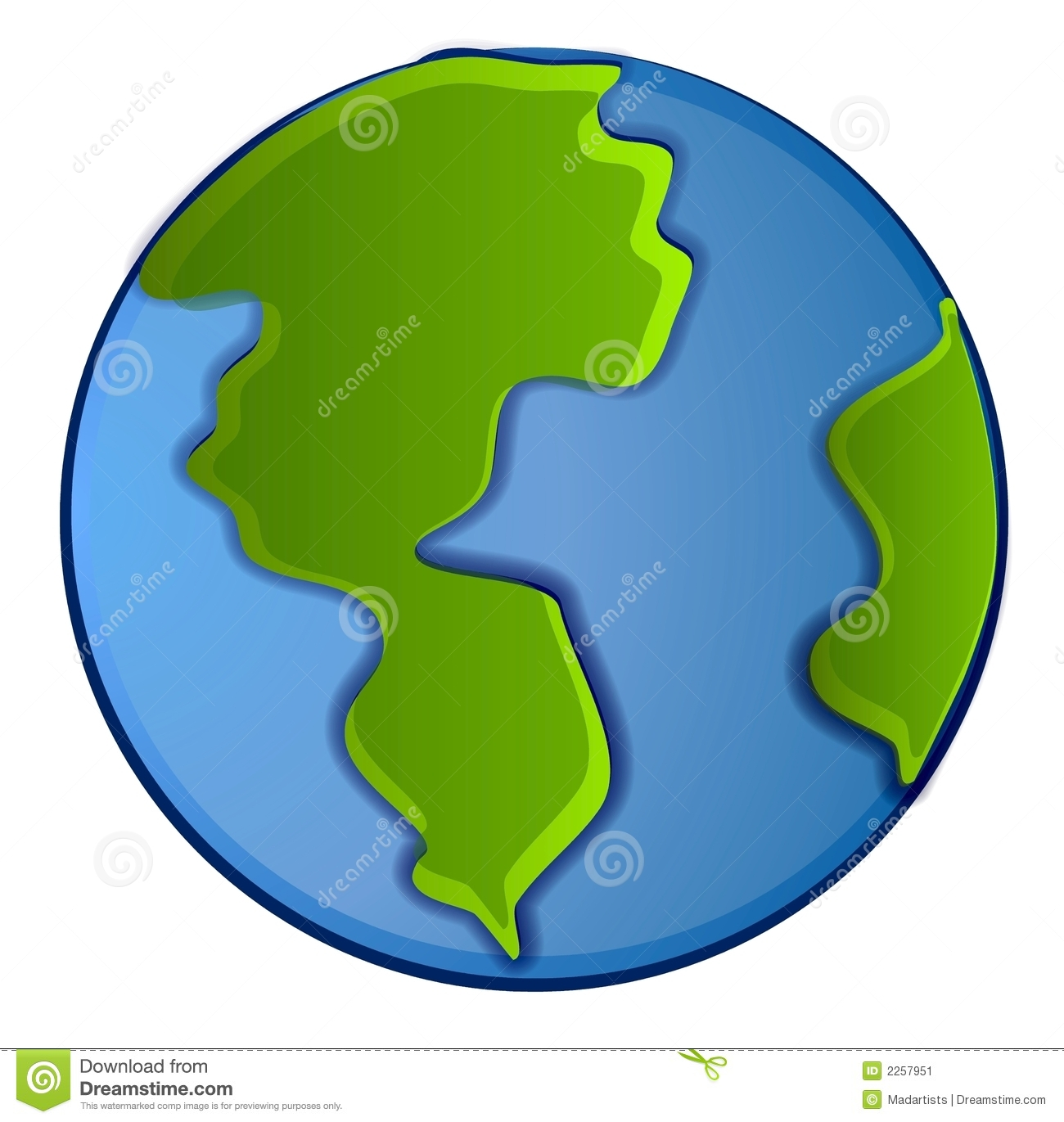 Isolated Planet Earth Clip Art Stock Image.