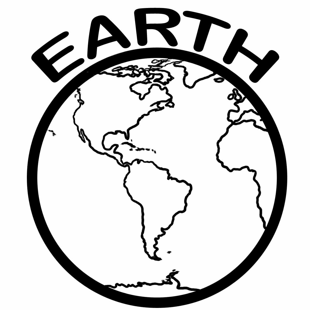 Planet earth 2 color clipart.