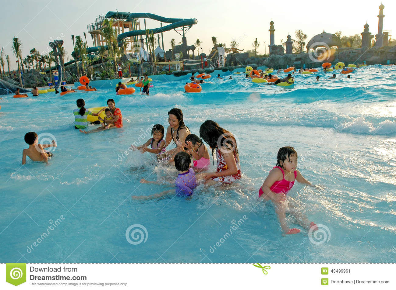 Water Park Editorial Photo.