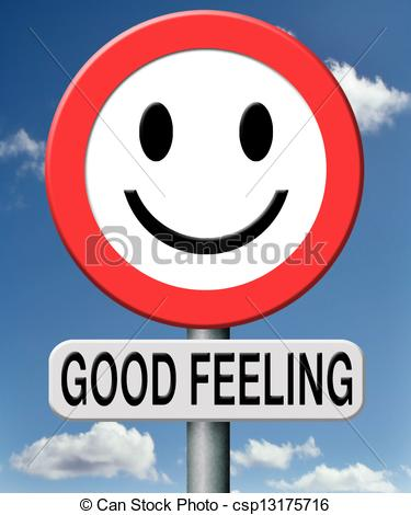 Clipart of good feeling totally relaxed and at ease positive.