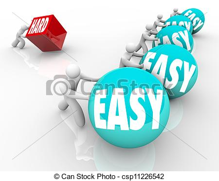 Stock Illustrations of Choose Easy Or Hard.