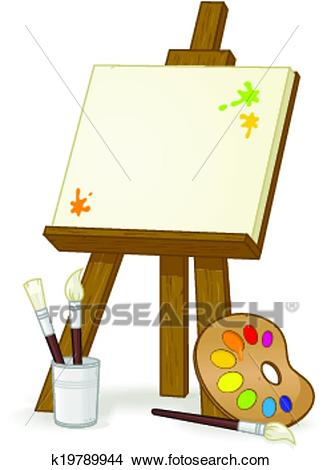 Easel Clipart.