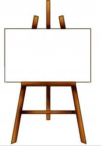 Paint Easel Clipart.