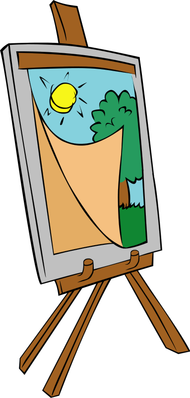 Free to Use & Public Domain Easel Clip Art.