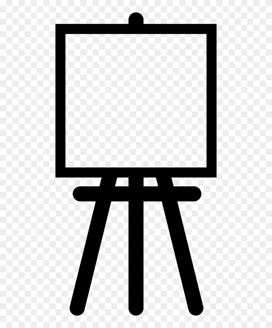 Vector Black And White Download Painter Easel With.