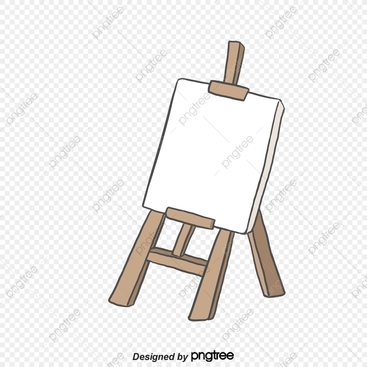 Wooden Easel, Easel, Wood, Cartoon PNG and Vector with Transparent.