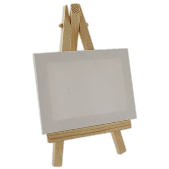 Mini Canvas on Easel transparent PNG.