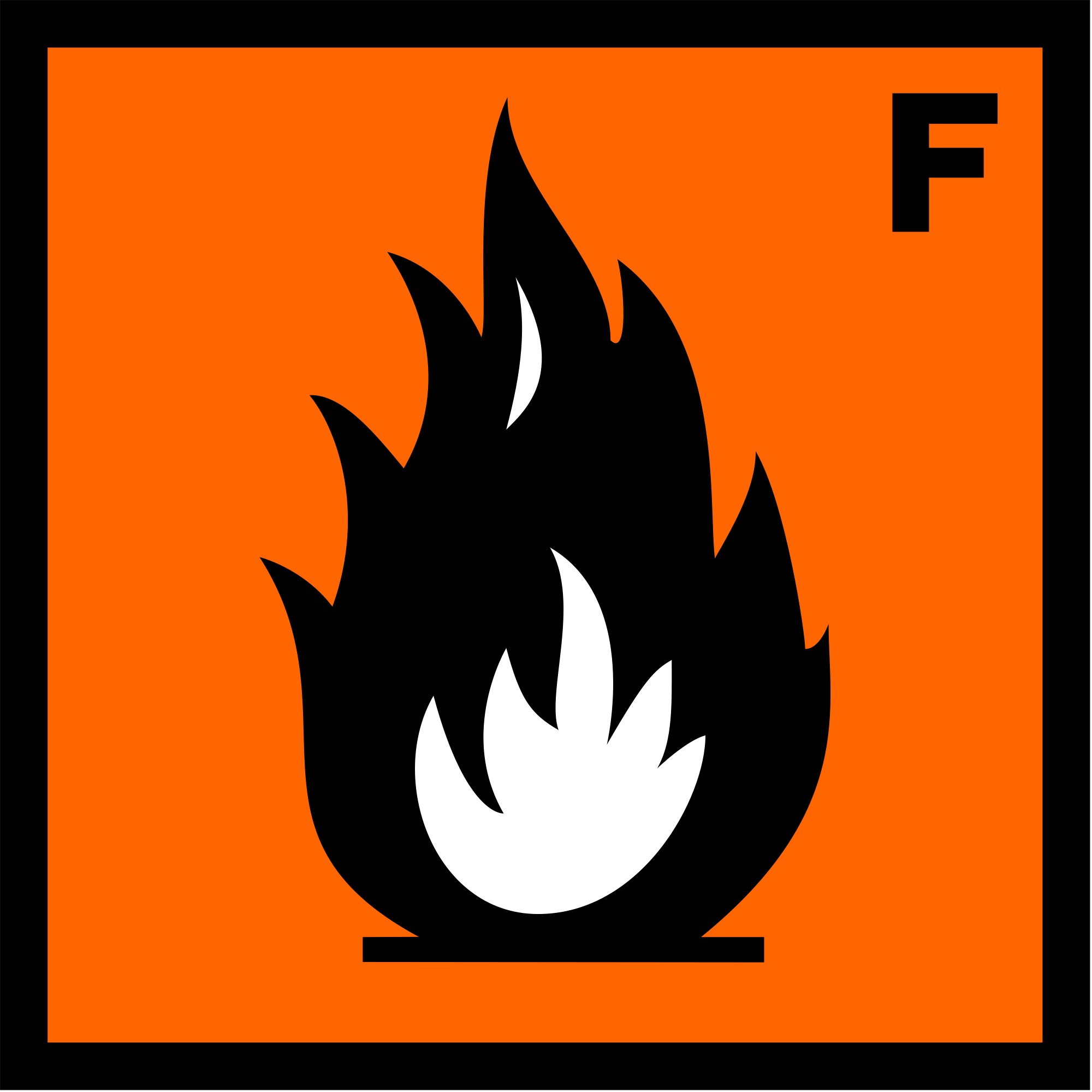 Highly Flammable Symbol.