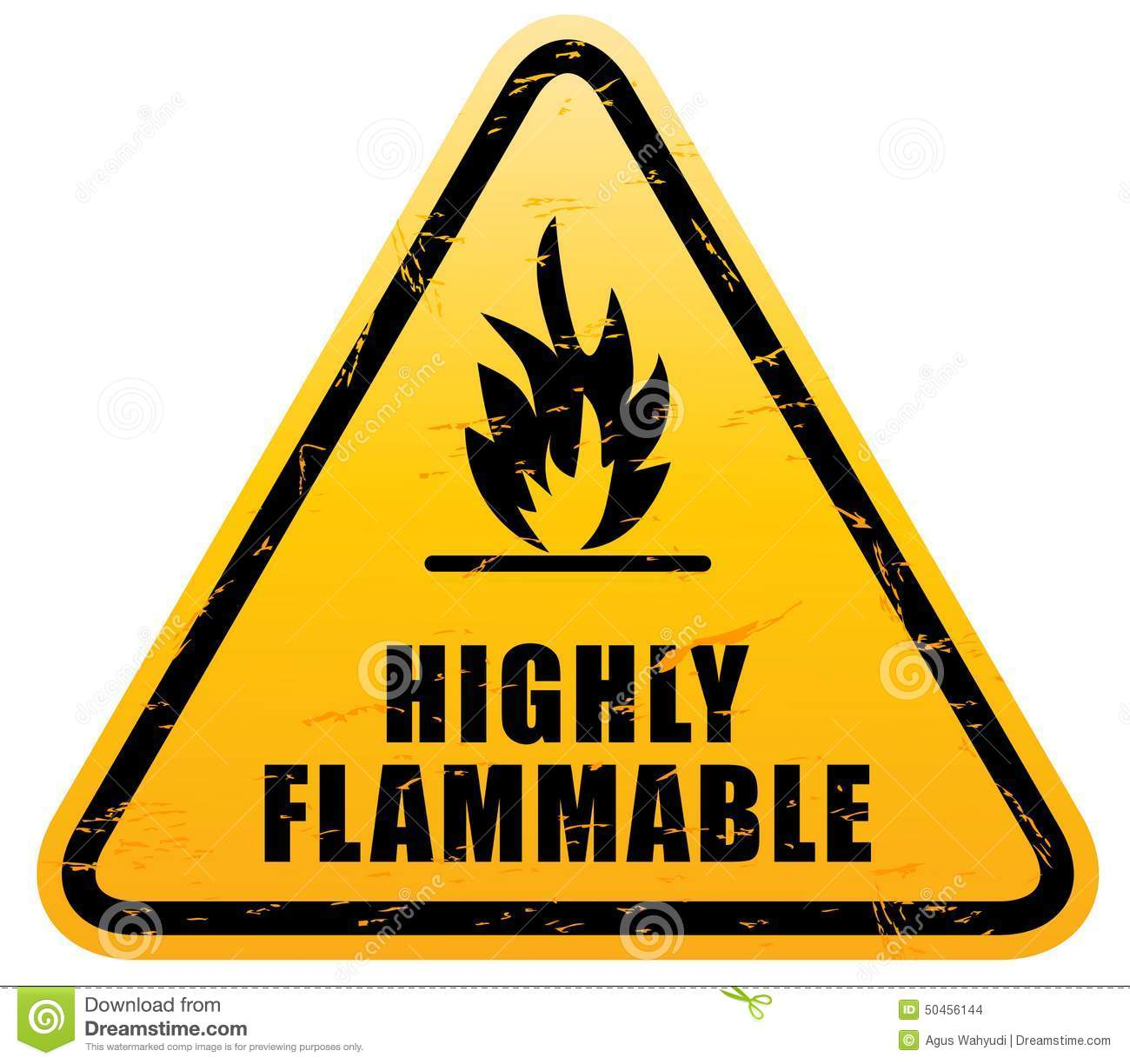 Highly Flammable Sign Royalty Free Stock Photo.