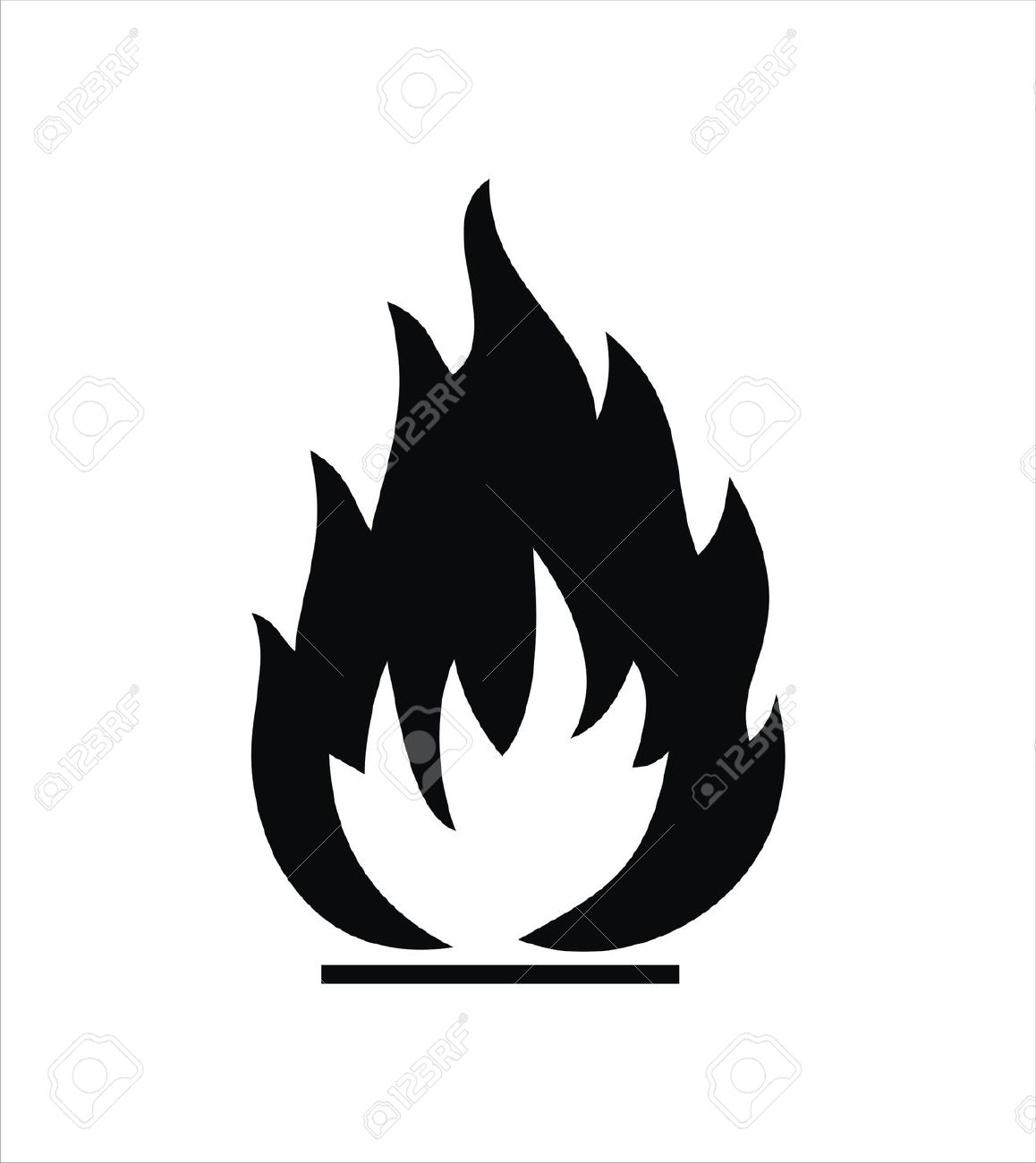 Black Highly Flammable Sign Isolated On White Royalty Free.