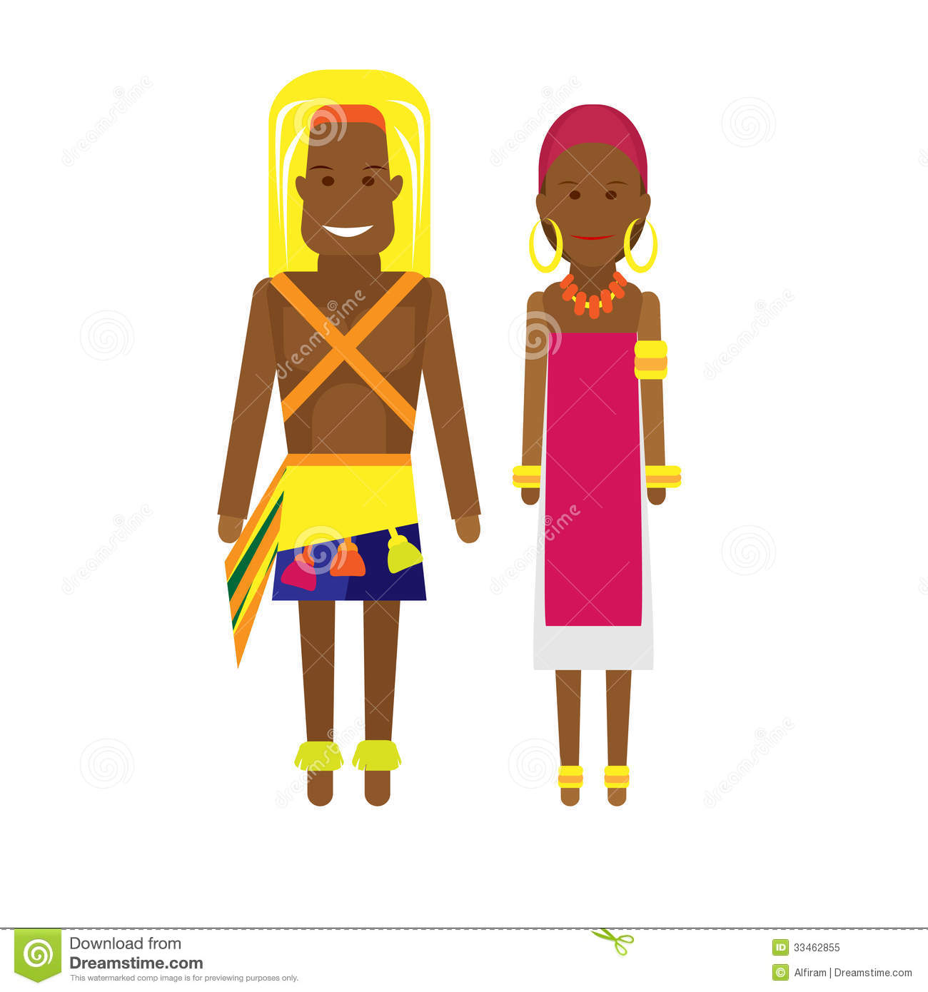 East Africa National Dress Royalty Free Stock Photo.
