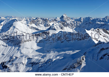Germany, Bavaria, Allgaeu, View To Oberstdorf, Erdinger Arena With.