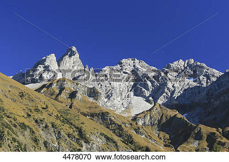 Stock Photography of Trettachspitze, Maedelegabel and.