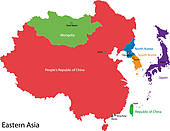 Clip Art of Eastern Asia map k14202248.