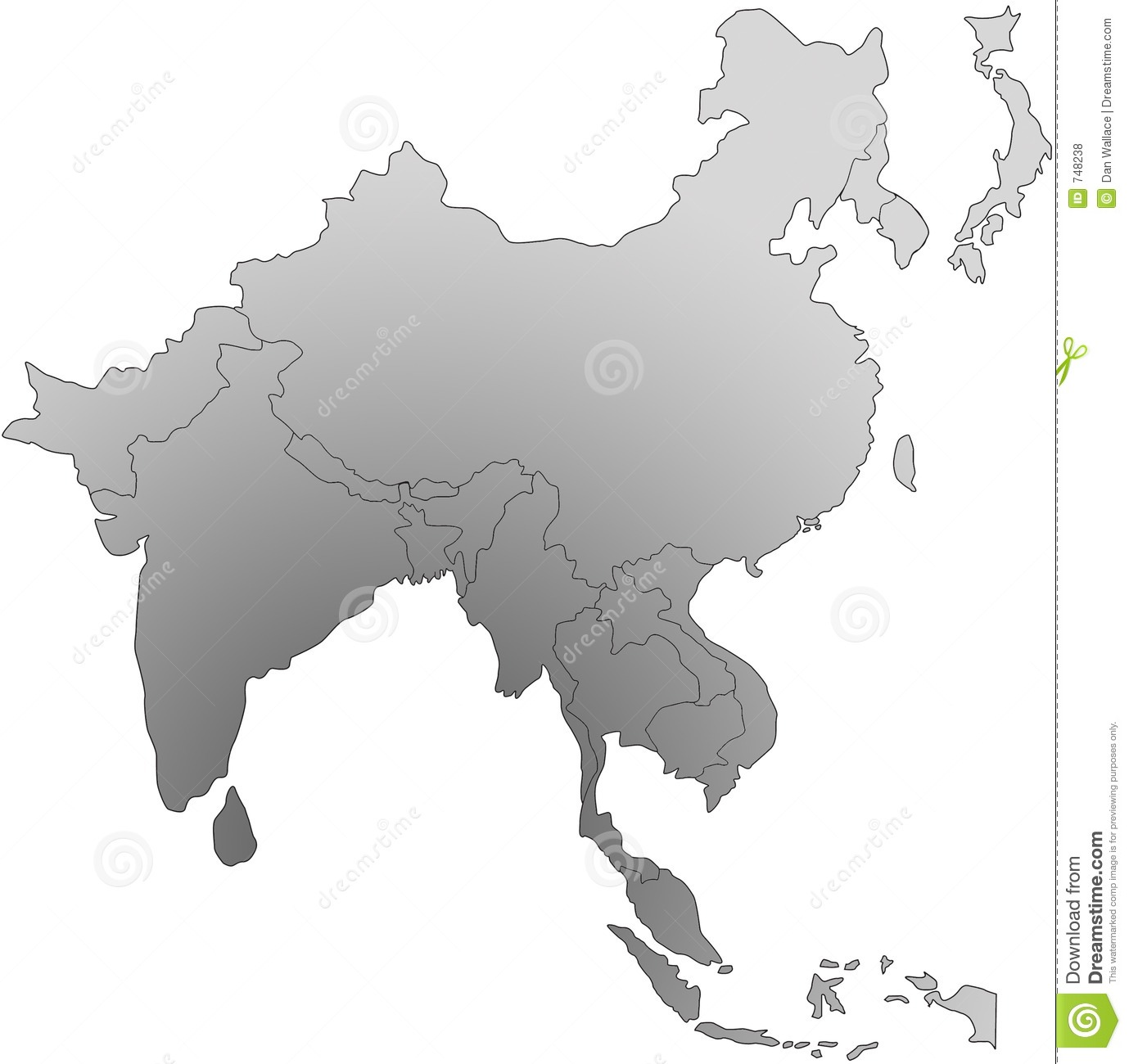 South East Asia Map Royalty Free Stock Photos.