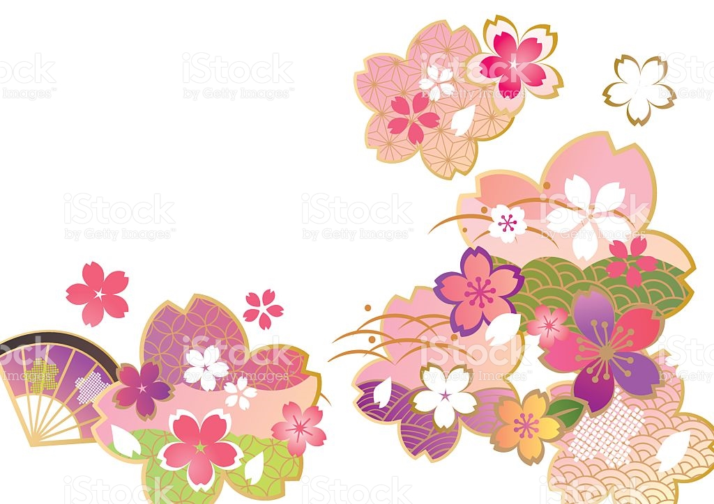Beautiful Cherry Blossoms Of Japan stock vector art 509994942.