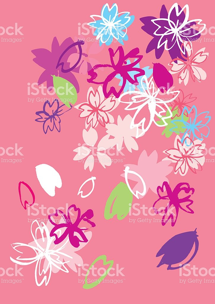 Beautiful Cherry Blossoms Of Japan stock vector art 509990194.