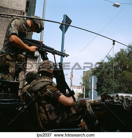 Stock Photo of 62 1986 Germany Berlin Wall Us Army Soldiers.