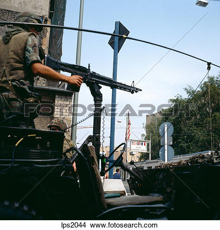 Stock Photo of 63 1986 Germany Berlin Wall Us Army Soldiers.